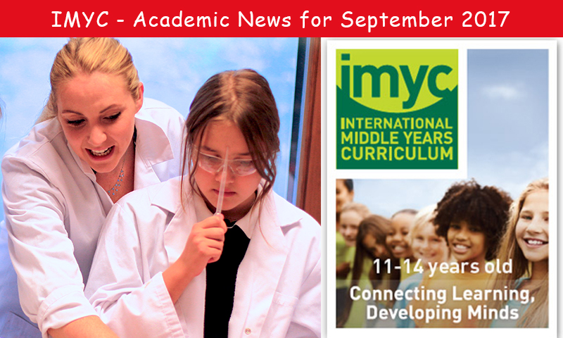 IMYC - Academic news for September 2017